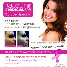 Rajeunir Medical Spa $20 Spot Removal Special