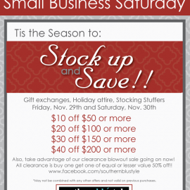 Southern Blu Style, Black Friday & Small Business Saturday Sale!!!