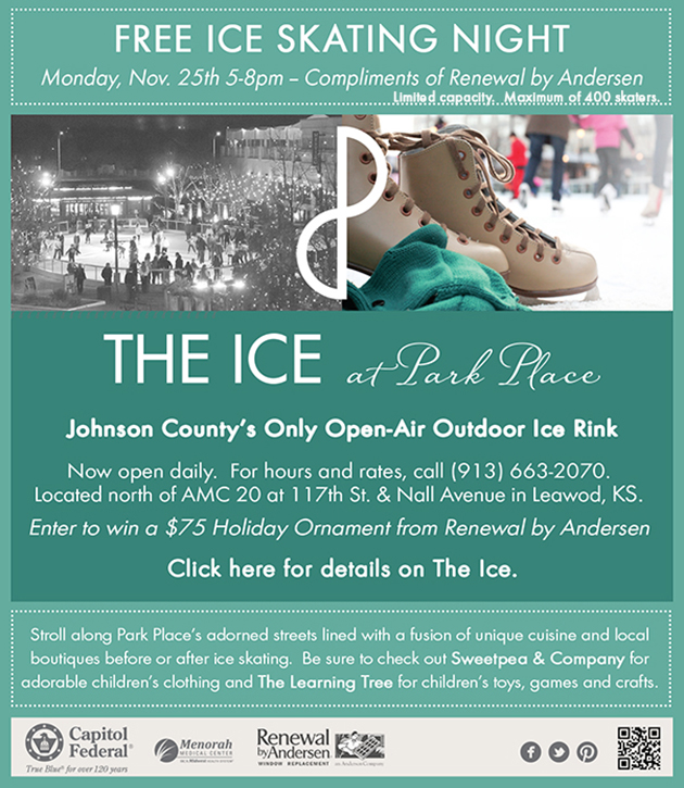 Free Ice Skating Tonight at THE ICE at Park Place from 5 – 8 pm!!