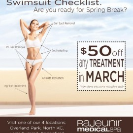 Rajeunir Medical Spa can help you get ready for Spring Break!!
